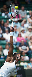 25.06.2011, Wimbledon, London, GBR, Wimbledon Tennis Championships, im Bild Serena Williams (USA) in action during the Ladies' Singles 3rd Round match on day six of the Wimbledon Lawn Tennis Championships at the All England Lawn Tennis and Croquet Club, EXPA Pictures © 2011, PhotoCredit: EXPA/ Propaganda/ *** ATTENTION *** UK OUT!