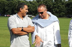 Left to right, DALEY THOMPSON and SIR IAN BOTHAM at the IWC Laureus Polo Cup Day 2008 held at Ham Polo Club, Surrey on 22nd June 2008.<br />