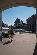 Berlin, Germany.  <br /> General View, Bode Museum, Am Kupfergraben, 10117 Berlin.<br /> Friedrichstadt neighbourhood Area<br /> <br />   Tuesday  29.08.17 <br /> Friedrichstadt neighbourhood Area<br /> <br /> UK Time + 1Hr. , 11:14:46  Tuesday  29.08.17   <br /> <br /> © Peter SPURRIER.<br /> Leica Camera AG -  LEICA M (Typ 262)  lens  not selected mm. 100 ISO 1/250/sec. f 1.7