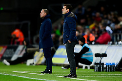 Fulham manager Scott Parker on the touchline with Swansea City manager Steve Cooper in the background  - Mandatory by-line: Ryan Hiscott/JMP - 29/11/2019 - FOOTBALL - Liberty Stadium - Swansea, England - Swansea City v Fulham - Sky Bet Championship