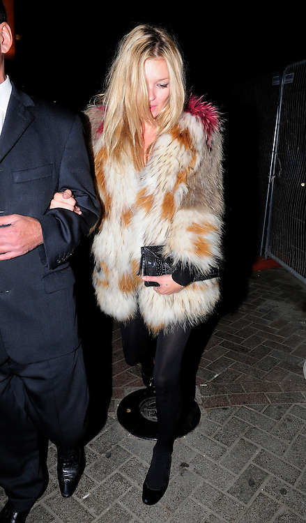 22.SEPTEMBER.2010. LONDON<br /> <br /> KATE MOSS LEAVING PENTHOUSE NIGHT CLUB IN LEICESTER SQUARE AFTER ATTENDING A PARTY FOR W HOTEL JAMES SMALL.<br /> <br /> BYLINE: EDBIMAGEARCHIVE.COM<br /> <br /> *THIS IMAGE IS STRICTLY FOR UK NEWSPAPERS AND MAGAZINES ONLY*<br /> *FOR WORLD WIDE SALES AND WEB USE PLEASE CONTACT EDBIMAGEARCHIVE - 0208 954 5968*