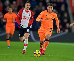 SOUTHAMPTON, ENGLAND - Sunday, February 11, 2018: Liverpool's Roberto Firmino during the FA Premier League match between Southampton FC and Liverpool FC at St. Mary's Stadium. (Pic by David Rawcliffe/Propaganda)