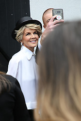 AU_1391515 - Melbourne, AUSTRALIA  -  AAMI Victoria Derby Day celebrities and VIPs in the Birdcage.<br />