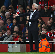 Alan Pardew Manager of Newcastle United during the Barclays Premier League match at the Emirates Stadium, London<br /> Picture by David Horn/Focus Images Ltd +44 7545 970036<br /> 28/04/2014