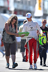 Mick Schumacher beim Autogramme schreiben beim Formel 4 Rennen auf dem Nürburgring / 070816<br /> <br /> *** ADAC Formula Four championship at Nurburgring on August 7, 2016 in Nurburg, Germany ***