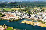 Nederland, Gelderland, Gemeente Renkum, 30-09-2015; papierfabriek van Parenco aan de Neder-rijn. Fabricage van onder andere krantenpapier.<br /> Paper mill near Arnhem, production of newsprint.<br /> <br /> luchtfoto (toeslag op standard tarieven);<br /> aerial photo (additional fee required);<br /> copyright foto/photo Siebe Swart