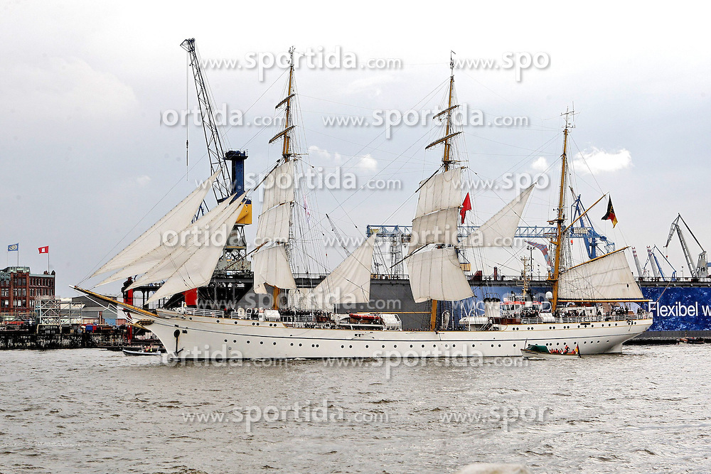 09.05.2013, Hafen, Hamburg, GER, 824. Hafengeburtstag Hamburg, Einlaufparade, im Bild Gorch Fock,  // during the opening parade of the 824th Hamburg Harbour Birthday, Germany on 2013/05/09. EXPA Pictures © 2013, PhotoCredit: EXPA/ Eibner/ Andre Latendorf..***** ATTENTION - OUT OF GER *****