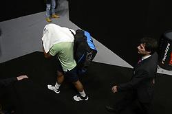 February 22, 2018 - Marseille, France - Stan WAWRINKA (SUI) - 1/8 finale.Abandon (Credit Image: © Panoramic via ZUMA Press)
