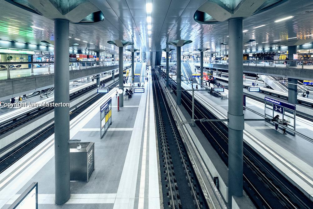 Interior of Berlin Hauptbahnhof central railway station in Berlin, Germany
