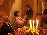 JACQUELINE DE RIBES; VALENTINO, Dinner for Jacqueline de Ribes after Legion d'honneur award. 50 Rue de la Bienfaisance. Paris.