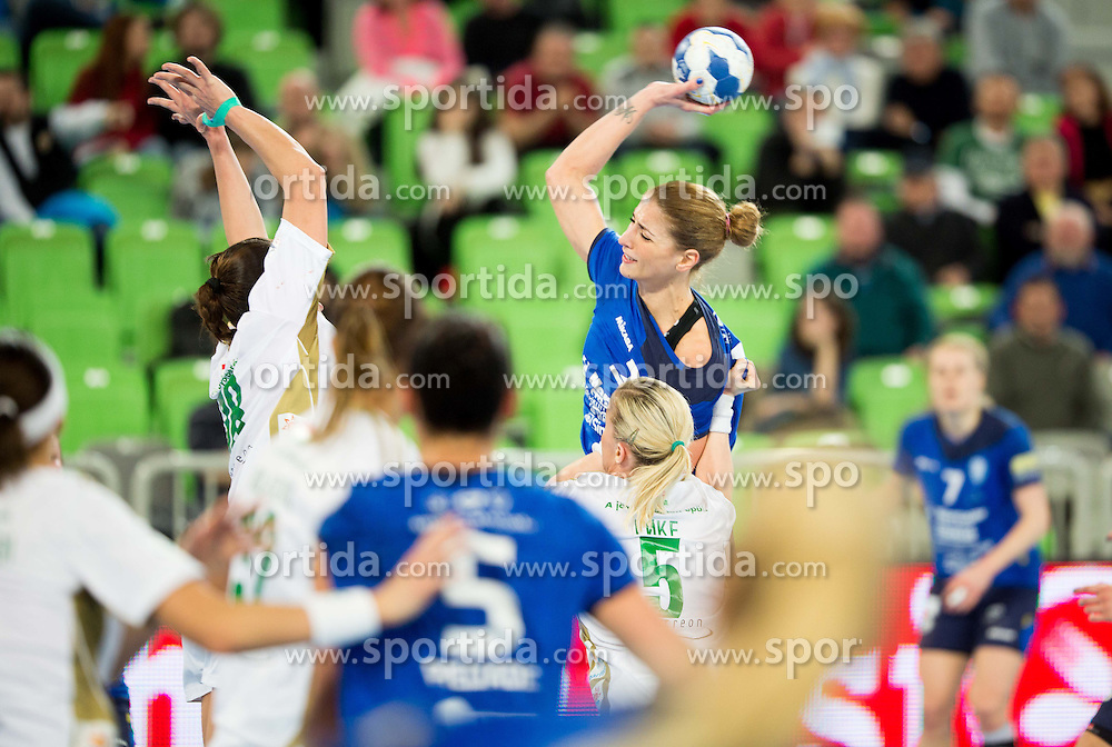 Andrea Penezic #23 of RK Krim Mercator during handball match between RK Krim Mercator (SLO) and Gyori Audi ETO KC (HUN) in 4th Round of Main Round of  Women's EHF Champions League 2013/14 on March 1, 2014 in Arena Stozice, Ljubljana, Slovenia. Photo by Vid Ponikvar / Sportida