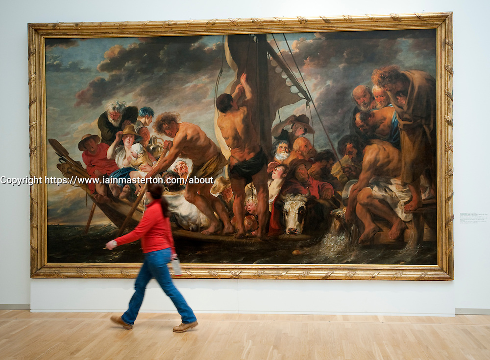 The Ferry Boat to Antwerp by Jacob Jordaens at Statens Museum for Kunst or Royal Museum of Fine Arts in Copenhagen Denmark