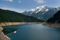 Ross Lake seen during spring draw down. Jack Mountain is in the distance. North Cascades Washington