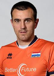 09-05-2014 NED: Selectie Nederlands zitvolleybal team mannen, Leersum<br /> In sporthal De Binder te Leersum werd het Nederlands team zitvolleybal seizoen 2014-2015 gepresenteerd / Jacob Hoeksma