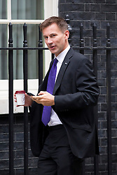 © Licensed to London News Pictures. 10/09/2013. London, UK. The Health Secretary, Jeremy Hunt, is seen on Downing Street in London today (10/09/2013) for a meeting of the British Government's cabinet. Photo credit: Matt Cetti-Roberts/LNP