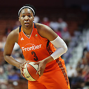 UNCASVILLE, CONNECTICUT- MAY 26:  Kelsey Bone #3 of the Connecticut Sun in action during the Los Angeles Sparks Vs Connecticut Sun, WNBA regular season game at Mohegan Sun Arena on May 26, 2016 in Uncasville, Connecticut. (Photo by Tim Clayton/Corbis via Getty Images)