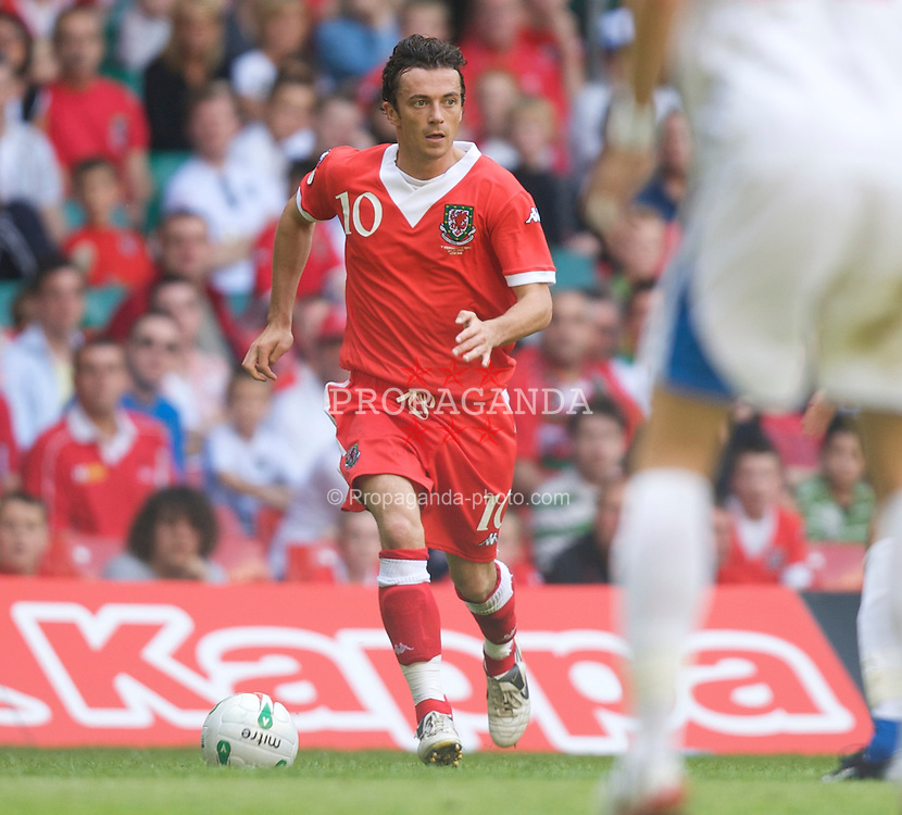 Cardiff, Wales - Saturday, June 2, 2007: Wales' Simon Davies in action against Czech Republic during the UEFA Euro 2008 Qualifying Group D match at the Millennium Stadium. (Pic by David Rawcliffe/Propaganda)