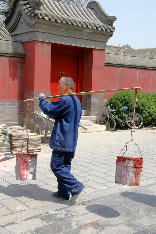 Asia, China, Beijing. Construction & Restoration of the Forbidden City