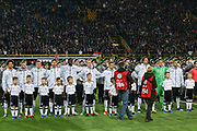 Germany team line up for national anthem during the International Friendly match between Germany and England at Signal Iduna Park, Dortmund, Germany on 22 March 2017. Photo by Phil Duncan.