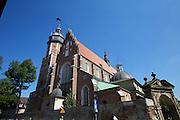 Poland, Krakow. Kazimierz. Gothic Corpus Christi Church.