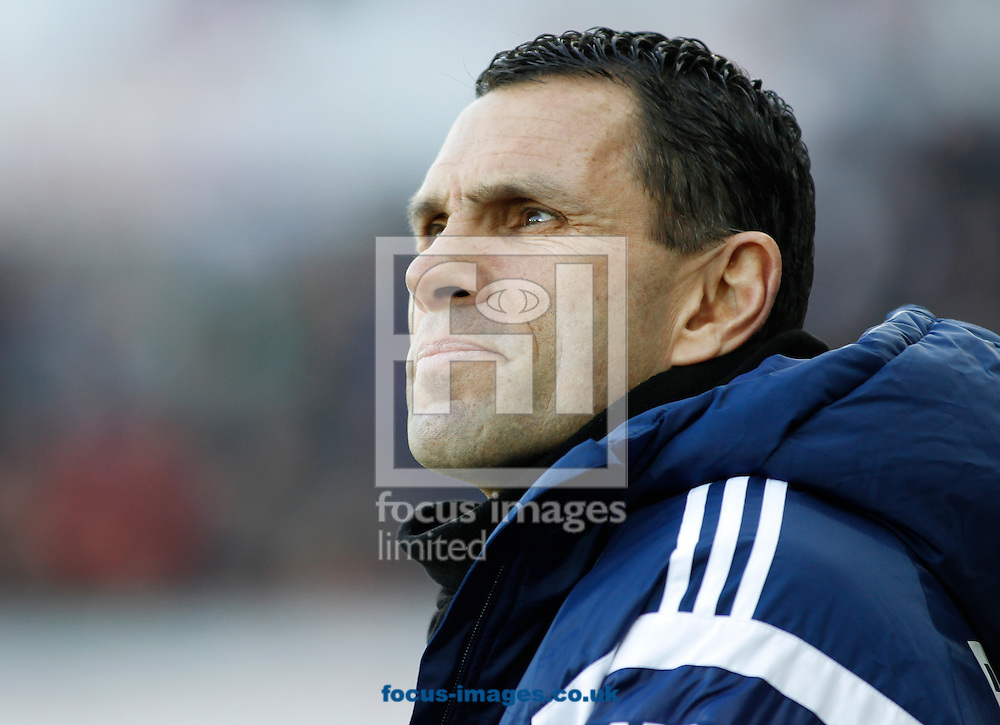 Gus Poyet of Sunderland during the Barclays Premier League match at the Liberty Stadium, Swansea<br /> Picture by Mike Griffiths/Focus Images Ltd +44 7766 223933<br /> 07/02/2015