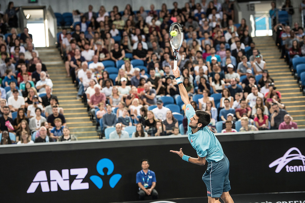 A Night with Novak ahead of the 2017 Australian Open at Melbourne Park on January 11, 2017 in Melbourne, Australia.<br /> (Ben Solomon/Tennis Australia)