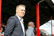 Brentford Manager / Head Coach Dean Smith during the EFL Sky Bet Championship match between Brentford and Huddersfield Town at Griffin Park, London, England on 11 March 2017. Photo by Andy Walter.