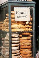 22 Apr 2006, Naples, Italy --- Fresh Breads in Display Case --- Image by © Owen Franken/Corbis