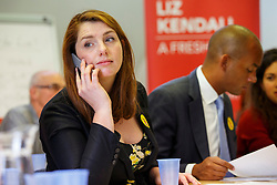 © Licensed to London News Pictures. 07/09/2015. London, UK. Alison McGovern calling Labour Party members to ask them to vote for Labour Party leader candidate Liz Kendall and making sure they vote before the Thursday lunchtime deadline as the Labour leadership election enters the final 72 hours. Photo credit: Tolga Akmen/LNP