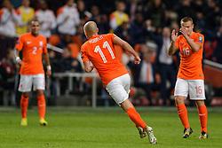 16-11-2014 NED: EK Kwalificatie Nederland - Letland, Amsterdam<br /> Nederland wint in de Arena met 6-0 van Letland / Arjen Robben scoort de 2-0