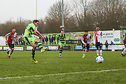 Forest Green Rovers Darren Carter(12) takes a penalty and misses the target during the Vanarama National League match between Forest Green Rovers and Woking at the New Lawn, Forest Green, United Kingdom on 25 February 2017. Photo by Shane Healey.