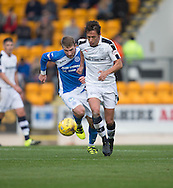 Dundee&rsquo;s Danny Williams burst away from St Johnstone&rsquo;s David Wotherspoon - St Johnstone v Dundee, Ladbrokes Scottish Premiership at McDiarmid Park, Perth. Photo: David Young<br /> <br />  - &copy; David Young - www.davidyoungphoto.co.uk - email: davidyoungphoto@gmail.com