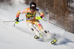 12.12.2010, The Bellevarde race piste, Val D Isere, FRA, FIS World Cup Ski Alpin, Men, Slalom, im Bild BIGGS Patrick CAN  attacks a control gate whilst competing in the FIS alpine skiing world cup slalom race on the Bellevarde race piste Val D'Isere. EXPA Pictures © 2010, PhotoCredit: EXPA/ M. Gunn