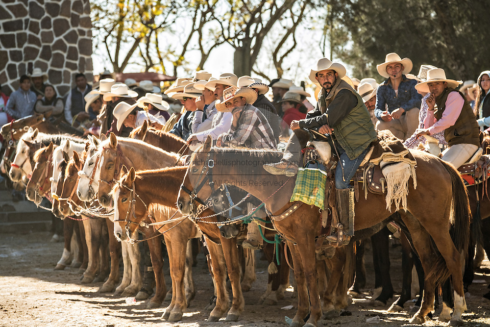 Thousands of Mexican cowboys line up for the final mass marking Three Kings Day and the end of the annual Cabalgata de Cristo Rey pilgrimage January 6, 2017 in Guanajuato, Mexico. Thousands of Mexican cowboys and horse take part in the three-day ride to the mountaintop shrine of Cristo Rey.