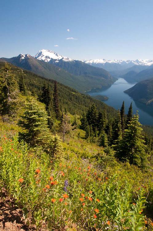 Ross Lake from Desolation Peak, North Cascades National Park, Washington, US