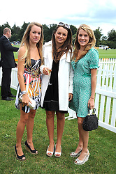 Left to right, sisters the HON.EMILY PEARSON and the HON.CATRINA PEARSON and the HON.ELIZA PEARSON at the 2008 Veuve Clicquot Gold Cup polo final at Cowdray Park Polo Club, Midhurst, West Sussex on 20th July 2008.<br /> <br /> NON EXCLUSIVE - WORLD RIGHTS