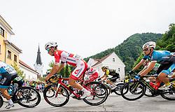 Gasper Katrasnik (SLO) of Adria Mobil, Andi Bajc (SLO) of Team Felbermayr Simplon Wels during 1st Stage of 26th Tour of Slovenia 2019 cycling race between Ljubljana and Rogaska Slatina (171 km), on June 19, 2019 in  Slovenia. Photo by Vid Ponikvar / Sportida