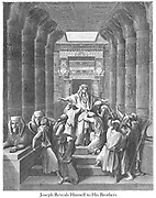 Joseph Reveals Himself to His Brothers Genesis 45:1 From the book 'Bible Gallery' Illustrated by Gustave Dore with Memoir of Doré and Descriptive Letter-press by Talbot W. Chambers D.D. Published by Cassell & Company Limited in London and simultaneously by Mame in Tours, France in 1866