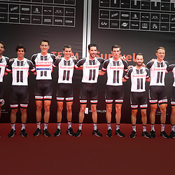 28-06-2017: Wielrennen: Tour Sunweb persmoment: Dusseldorf  <br />Sunweb TdF team Laurens ten Bam, Michael Matthews, Ramon Sinkeldam, Warren Barguil, Roy Curvers, Albert Timmer, Simon Geschke, Niklas Arndt, Mike Teunissen