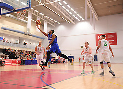 Bristol Flyers' Dwayne Lautier-Ogunleye  - Photo mandatory by-line: Joe Meredith/JMP - Mobile: 07966 386802 - 21/02/2015 - SPORT - Basketball - Bristol - SGS Wise Campus - Bristol Flyers v Plymouth Uni Raiders - British Basketball League