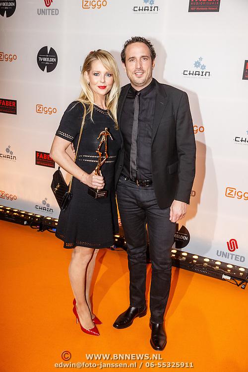 NLD/Amsterdam/20160307 - TV Beelden 2016, Chantal Janzen en partner Marco Geeratz
