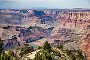 Colorado River seen from Desert View, in Grand Canyon National Park, Arizona, USA.