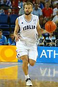 ATENE, 23 AGOSTO 2004<br /> OLIMPIADI ATENE 2004<br /> BASKET<br /> ITALIA - ARGENTINA<br /> NELLA FOTO: MICHELE MIAN<br /> FOTO CIAMILLO