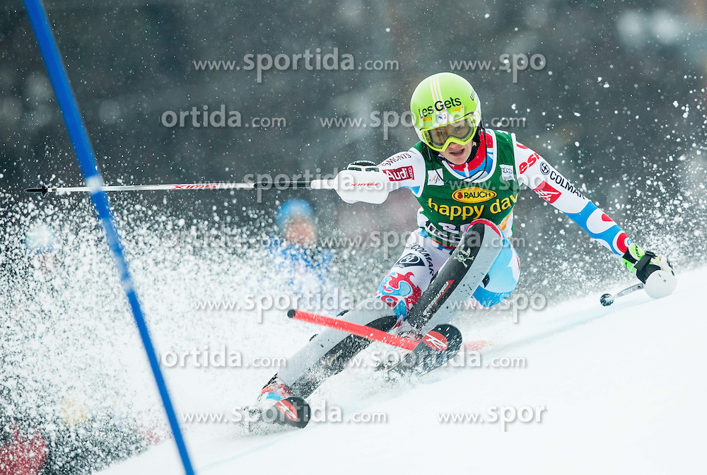 BAUD Adeline (FRA) competes during the 1st Run of 7th Ladies' Slalom at 51st Golden Fox of Audi FIS Ski World Cup 2014/15, on February 22, 2015 in Pohorje, Maribor, Slovenia. Photo by Vid Ponikvar / Sportida