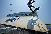 Outerbanks, NC - Sam Medysky Kiteboarding at the Triple-S 2011