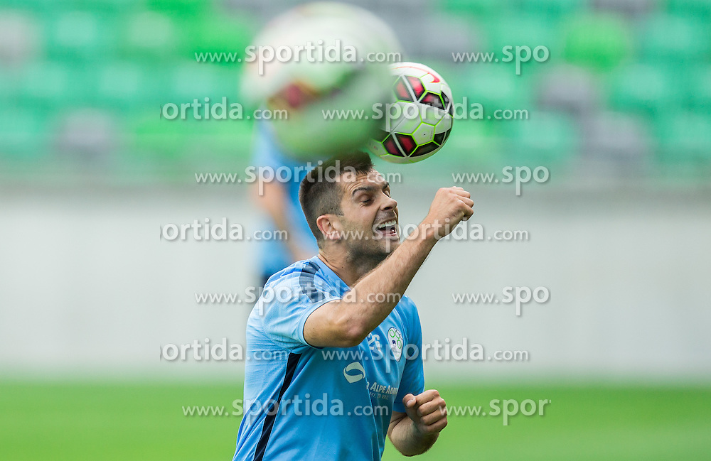 Miral Samardzic during practice session of Slovenian National Football Team before Euro 2016 Qualifications match against England, on June 12, 2015 in SRC Stozice, Ljubljana, Slovenia. Photo by Vid Ponikvar / Sportida