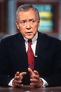 "WASHINGTON, DC - September 21: Senator Orrin Hatch on ""Meet The Press"" in Washington, DC. September 21, 1997  (Photo RIchard Ellis)"