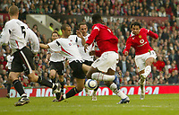 Photo: Aidan Ellis.<br /> Manchester United v Charlton Athletic. The Barclays Premiership. 07/05/2006.<br /> United's Keiran Richardson scores the fourth