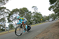 (Geelong, Australia---30 September 2010) Andrey ZEITS of Kazahkstan (KAZ) racing to 34th place in the Elite Men's Time Trial race at the 2010 UCI Road World Championships [2010 Copyright Sean Burges / Mundo Sport Images -- www.mundosportimages.com]