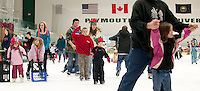 Skate with Santa Claus at the Plymouth Ice Arena December 5, 2010.
